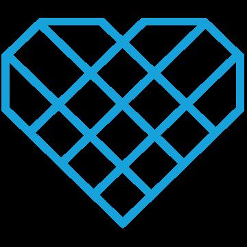 Un amor corazón azul